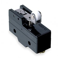 Omron - A-20GV22-B7-K - 20A @ 480V Hinge Roller, Lever, Short Industrial Snap Action Switch; Series A