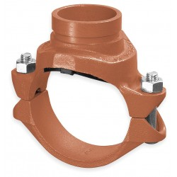 Anvil Fittings - 0390173367 - 4 x 2 Nominal Size Ductile Iron Clamp with Grooved Branch