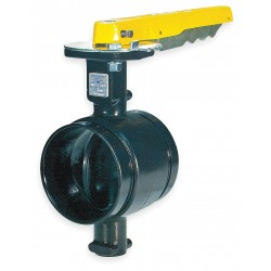Anvil Fittings - 7005011809 - Grooved-Style Butterfly Valve, Ductile Iron, 300 psi, 6 Pipe Size