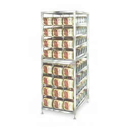 Lakeside - 478 - Mobile Can Dispenser and Storage Rack