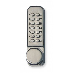 Kaba Ilco - LD452-35-32D-41 - Mechanical Push Button Lockset, 14 Button, Vandal Resistant, Entry, Passage, Satin Stainless