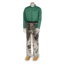 National Safety Apparel - L40NLNL38 - Chaps, 38 In. L, Silver, 19 oz.