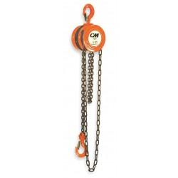 Columbus McKinnon - 2213 - 622 2t 15'lift W/13' Hand Chain