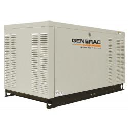 Generac - QT02515ANSX - Generac QT02515ANSX Generator, Standby, 25kW, 240VAC, 104A, @240V, Pad Mount, LP/NG