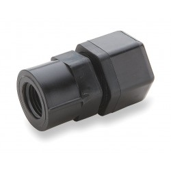 Parker Hannifin - P4FC4 - Parker Hannifin female pipe adapter, straight, Black PP, 1/4 OD x 1/4 NPT