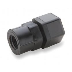 Parker Hannifin - P6FC6 - Parker Hannifin P6FC6 female pipe adapter, straight, Black PP, 3/8 OD x 3/8 NPT, 1-9/16 x 1-1/8 x 1/4