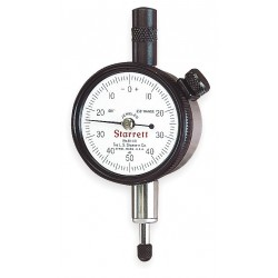 L.S. Starrett - 81-241J - Continuous Reading Dial Indicator, AGD 1, 1.687 Dial Size, 0 to 0.250 Range