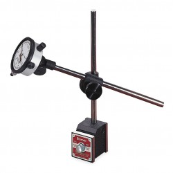 L.S. Starrett - 657EZ - Balanced Reading Indicator with Magnetic Base, AGD 2, 2.250 Dial Size, 0 to 0.125 Range