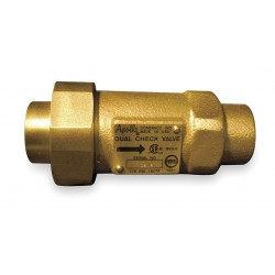 Apollo Valves - 4N3A55B - 1 Dual Check Valve, Bronze, FNPT x MNPT Connection Type