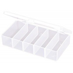Flambeau - T155 - Compartment Box, Translucent, 1-5/16H x 3-1/2L x 5-7/8W, 1EA