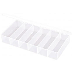 Flambeau - T203 - Compartment Box, Translucent, 1-3/8H x 4-3/8L x 8-1/4W, 1EA