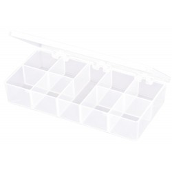 Flambeau - T210 - Compartment Box, Translucent, 1-3/8H x 3-7/16L x 7W, 1EA