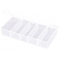 Flambeau - T215 - Compartment Box, Translucent, 1-3/8H x 3-7/16L x 7W, 1EA