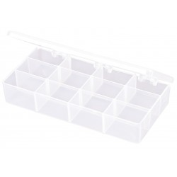 Flambeau - T219 - Compartment Box, Translucent, 1-3/8H x 3-7/16L x 7W, 1EA
