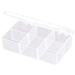 Flambeau - T220 - Compartment Box, Translucent, 1-3/16H x 2-5/8L x 4-5/8W, 1EA