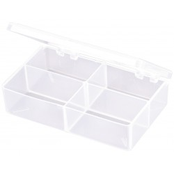 Flambeau - T221 - Compartment Box, Translucent, 1-3/16H x 2-5/8L x 4-5/8W, 1EA