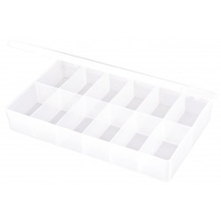 Flambeau - T602 - Compartment Box, Translucent, 1-3/4H x 6-7/16L x 10-3/4W, 1EA