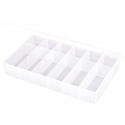 Flambeau - T612 - Compartment Box, Translucent, 1-3/4H x 6-7/16L x 10-3/4W, 1EA