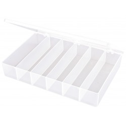 Flambeau - T806 - Compartment Box, Translucent, 2-5/16H x 8-3/4L x 13W, 1EA