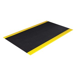 Crown Mats / Ludlow Composites - SER3836YB - Static Dissipative Runner, Black with Yellow Border, PVC Foam, 60 ft. x 3 ft., 1 EA