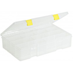 Plano Molding - 2-3730-05 - Compartment Box, Clear, 3-1/4H x 9-1/8L x 14W, 1EA