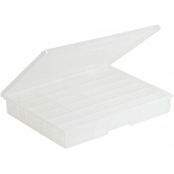 Plano Molding - 5324-30 - Compartment Box, Clear, 2-1/4H x 11-1/2L x 14-1/4W, 1EA