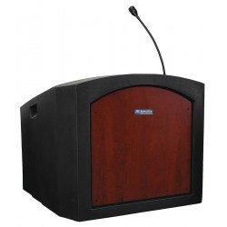 AmpliVox - ST3240-MH - AmpliVox ST3240 - Pinnacle Tabletop Lectern with Sound - Rectangle Top - 24 Table Top Width x 22 Table Top Depth - 25.75 Height - Mahogany - Plastic