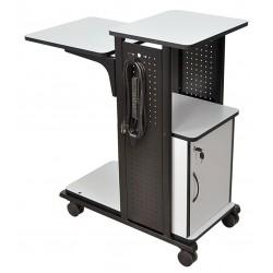 AmpliVox - SN3310 - AmpliVox SN3310 - Presentation Station with Cabinet - 39.5 Height x 18.3 Width x 34.5 Depth - Gray, Laminate - Steel - Black