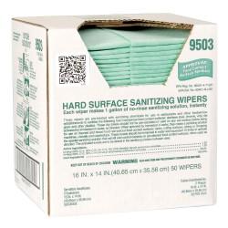 Atlantic Mills / ITW - 9503 - 50 Sanitizing Wipes, 14 x 16, 1 EA