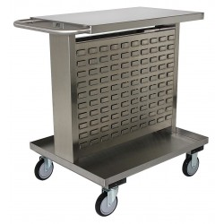 Other - ZT230U5 - 35H x 25W Stainless Steel Mobile Bin Cart, 1200 lb. Load Capacity, Total Number of Bins: 0
