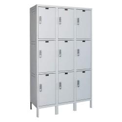 Hallowell - UELBP3588-3PL - Box Locker, 45inWx18inDx78inH, Light Gray