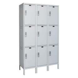 Hallowell - UELBP3888-3PL - Box Locker, 54inWx18inDx78inH, Light Gray