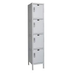 Hallowell - UELBP1588-4PL - Box Locker, 15inWx18inDx78inH, Light Gray