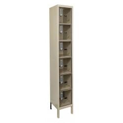 Hallowell - UESVP1258-6PT - Box Locker, 12inWx15inDx78inH, Parchment