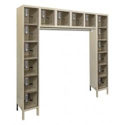 Hallowell - UESVP1788-16PT - Box Locker, 72inWx18inDx78inH, Parchment