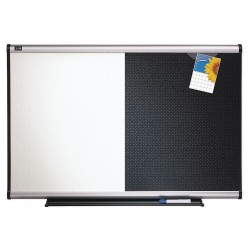 Quartet (Acco) - BTE643A - Combination Bulletin Board, 36 x 24 In