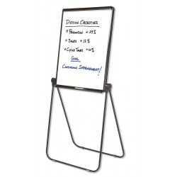 Quartet (Acco) - 101EL - Gloss-Finish Melamine Dry Erase Board, Easel Mounted, Portable/Carry, 34H x 27