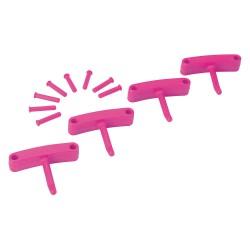 Vikan - 10161 - Replacement Hooks, Wall Bracket, Pink, Pk4
