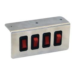 Buyers - 6391004 - Switch Panel, Aluminum