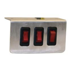 Buyers - 6391003 - Switch Panel, Aluminum