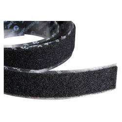 Velcro Industries - 120224 - Loop-Type Reclosable Fastener Strap with Rubber Adhesive, Black, 2 x 75 ft., 1EA