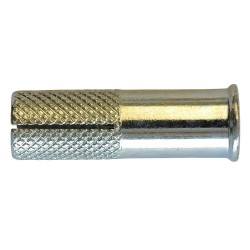 MKT Fastening - 133800L - 1-9/16 Zinc Plated Steel Drop-In Anchor with 1/2 Thread Depth and 3/8-16 Thread Size; PK25