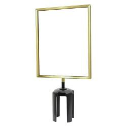 Tensator - FRAME-HDSC-2P-8511LD-V - Sign Frame, 11 x 8-1/2 In, Polished Brass