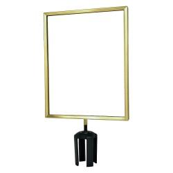 Tensator - FRAME-HDSC-2P-1114LD-V - Sign Frame, 14 x 11 In, Polished Brass