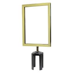 Tensator - FRAME-HDSC-2P-0711HD-V - Sign Frame, 11 x 7 In, Polished Brass