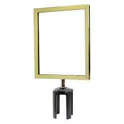 Tensator - FRAME-HDSC-2P-8511HD-V - Sign Frame, 11 x 8-1/2In, Polished Brass
