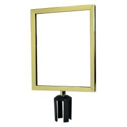Tensator - FRAME-HDSC-2P-1114HD-V - Sign Frame, 14 x 11 In, Polished Brass