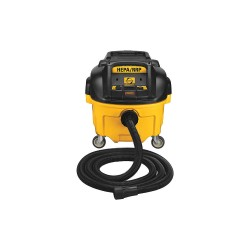 Dewalt - DWV010 - 8 gal. Commercial/Industrial/Contractor Series Dust Extractor, 150 cfm, 15 Amps, HEPA Filter Type