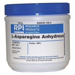 RPI - A50035-100.0 - L-Asparagine, Anhydrous, 100g