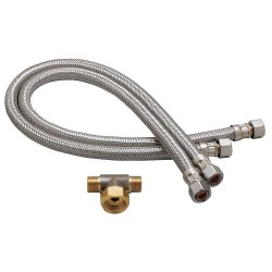 Speakman - A-HOSES - Stainless Steel Flex Hose Set, For Use With Speakman Commander Faucets